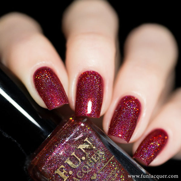 Goodness Of The Dawn Red Holographic Nail Polish