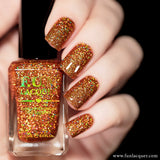 Surprise Burnt Orange Holographic Glitter Nail Polish