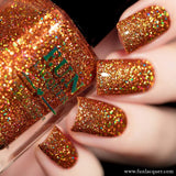 Surprise Burnt Orange Holo Glitter Nail Polish