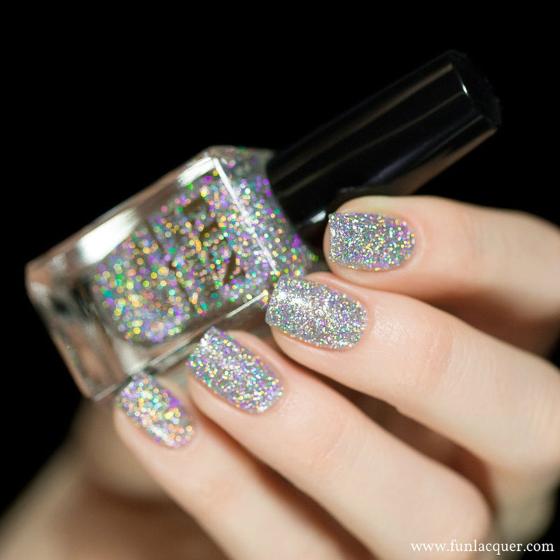 24 Karat Diamond Silver Holographic Nail Polish