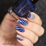 Starry Night Of The Summer Best Blue Linear Holo Nail Polish