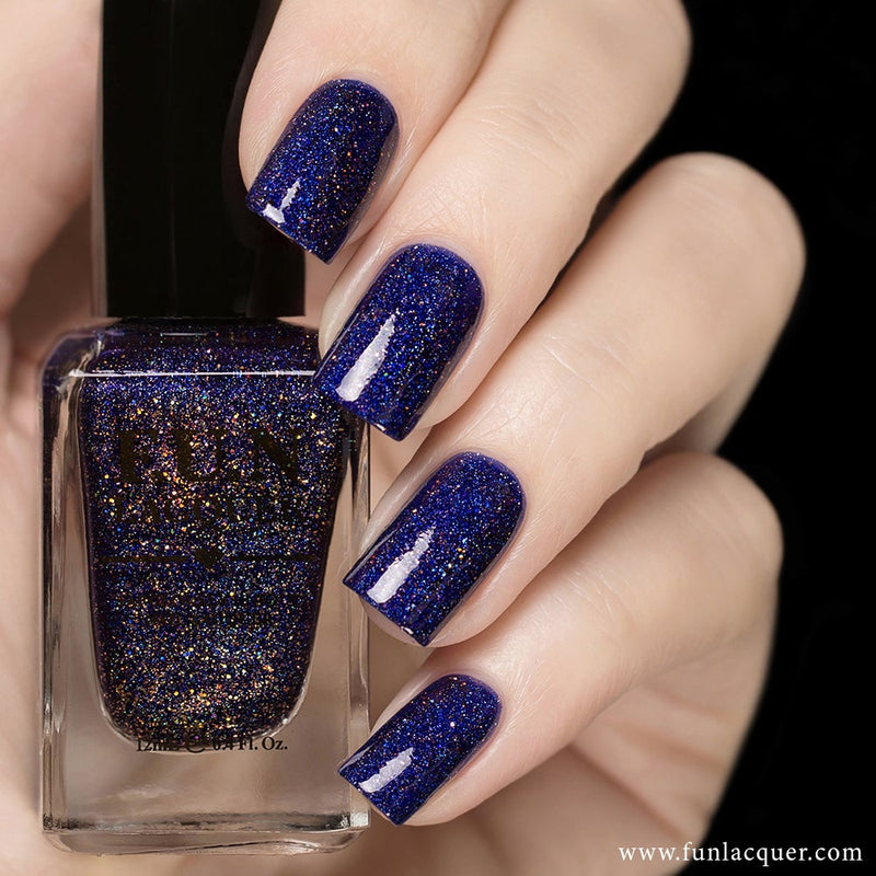 Moonlight Nocturne Purple Holographic Nail Polish