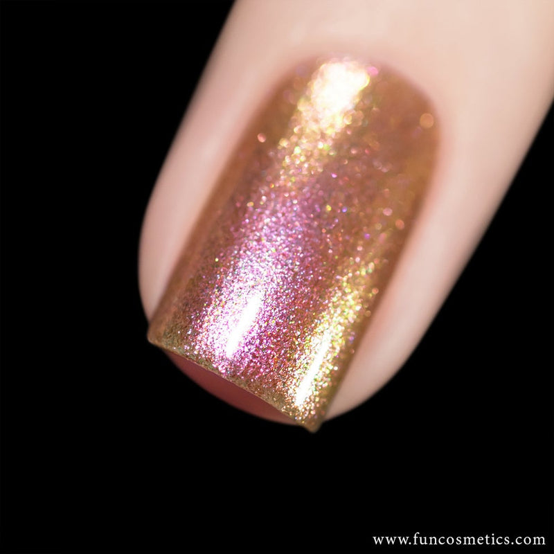 Dating 005 Pink Color Shifting Shimmer Nail Polish
