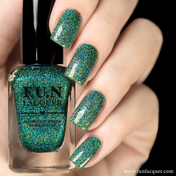 Secret (H) Green Holographic Glitter Nail Polish