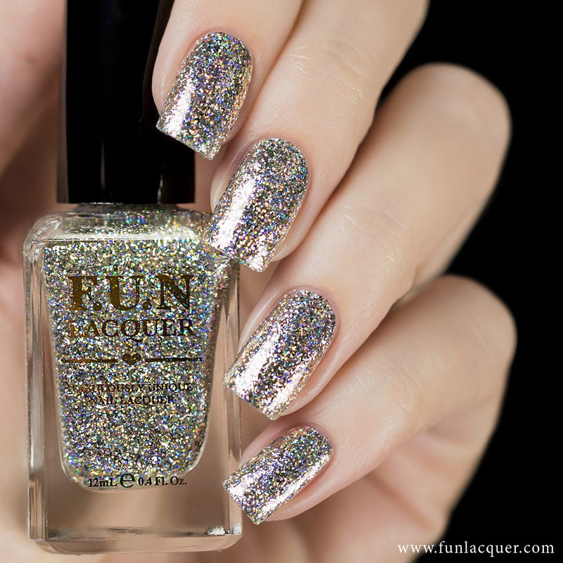 King Chrome Hologram Glitter Nail Polish