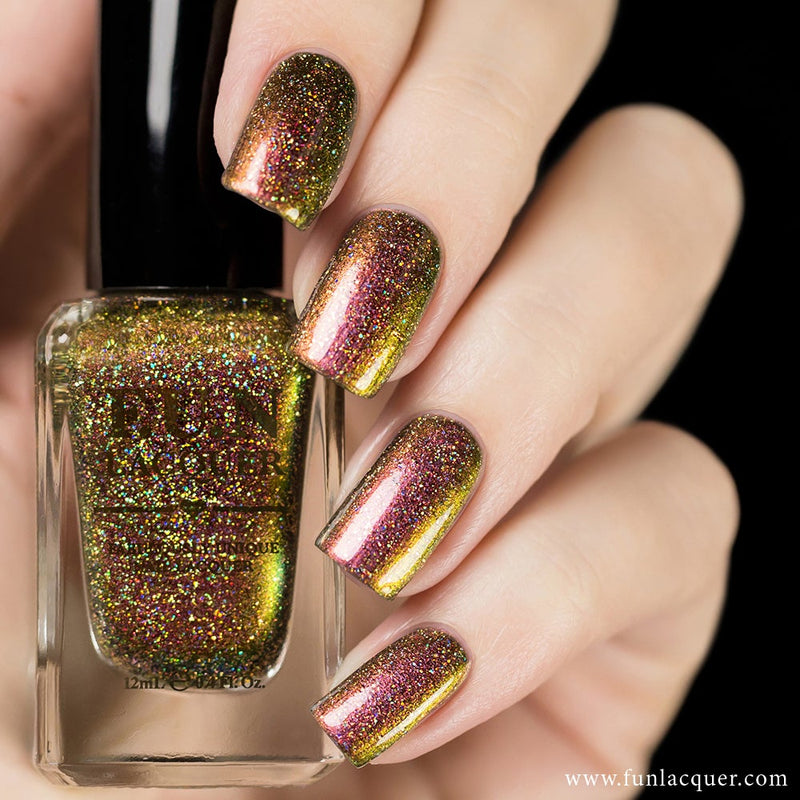 Poinsettia Holographic Multichrome Nail Polish