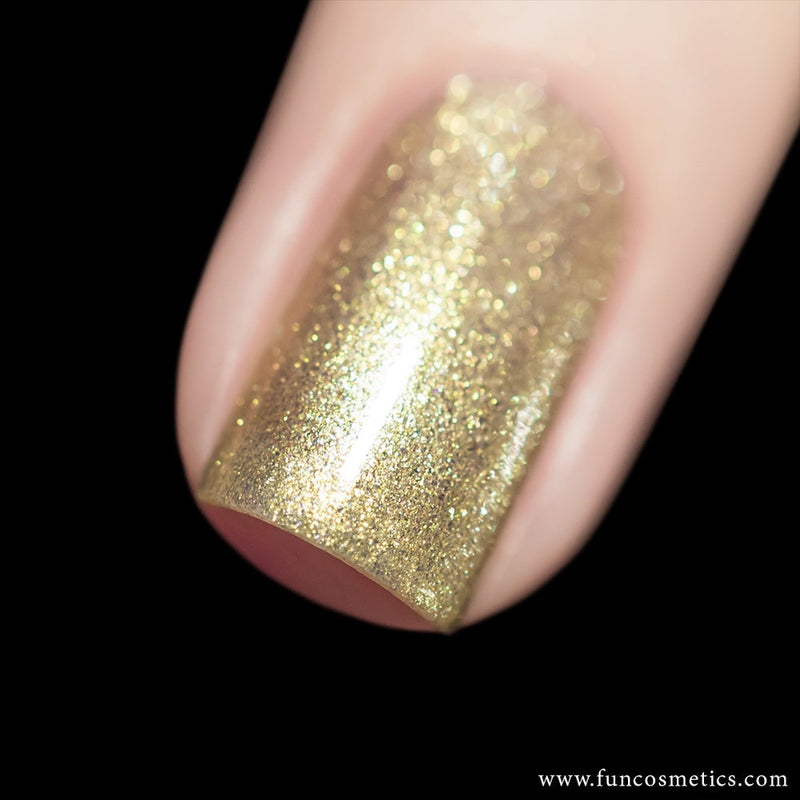 Heart Of Gold Color Shifting Shimmer Nail Polish