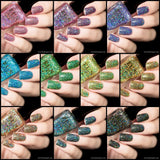 F.U.N Lacquer 6th Anniversary Collection Holographic Glitter Nail