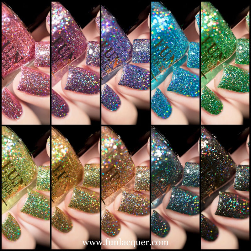 F.U.N Lacquer 6th Anniversary Collection Glitter Nails