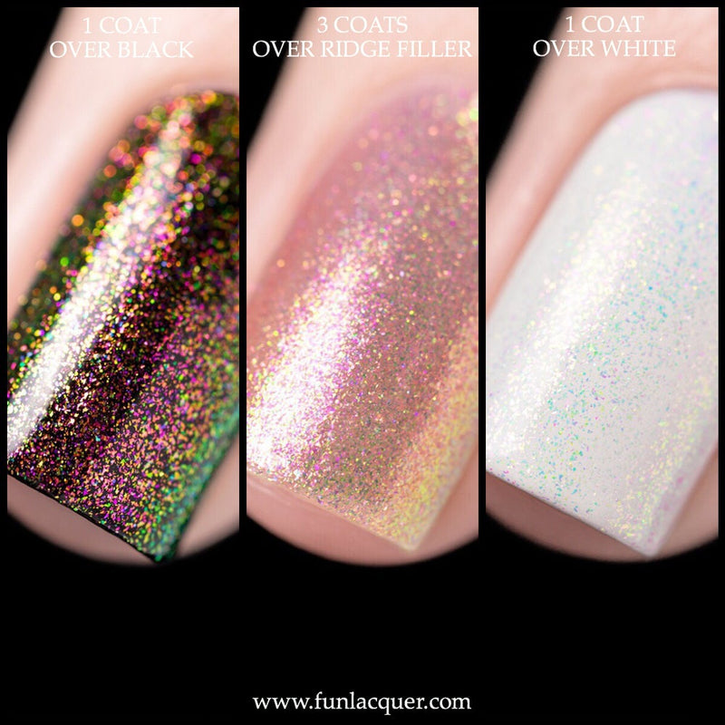 Divine Color Shifting Iridescent Unicorn Top Coat