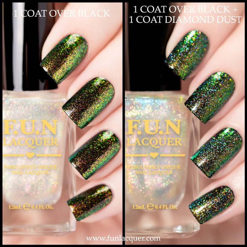 Enchanting Yellow Color Shifting Unicorn Top Coat