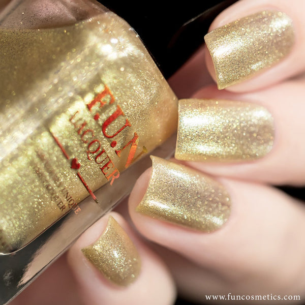Heart Of Gold 003 Color Shifting Shimmer Nail Polish