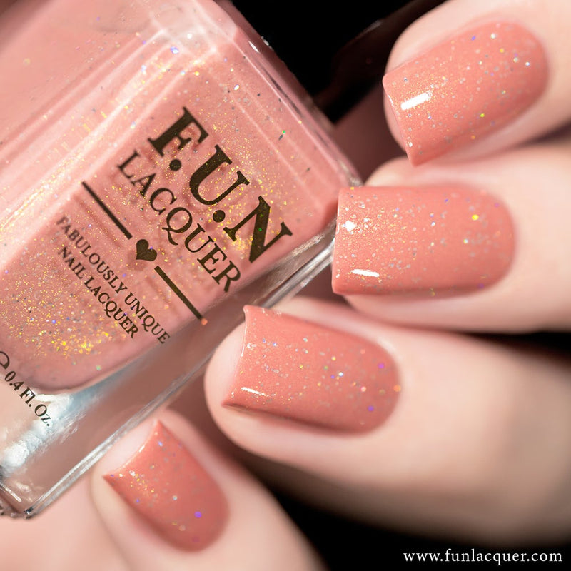 Cherry Blossom Pastel Holographic Nail Polish 2