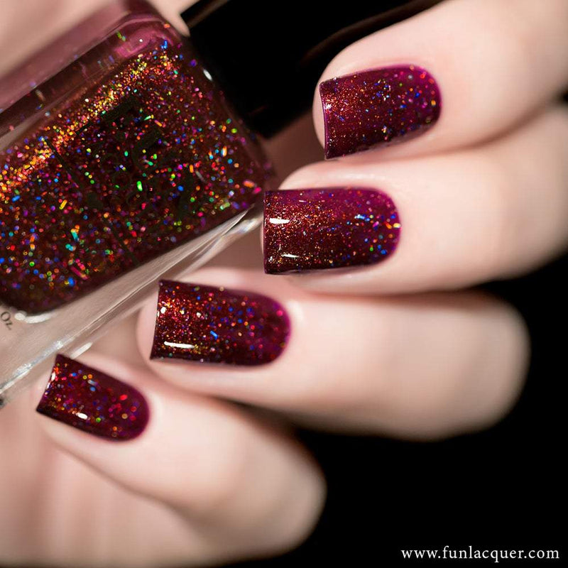 High Society Vampy Holographic Nail Polish