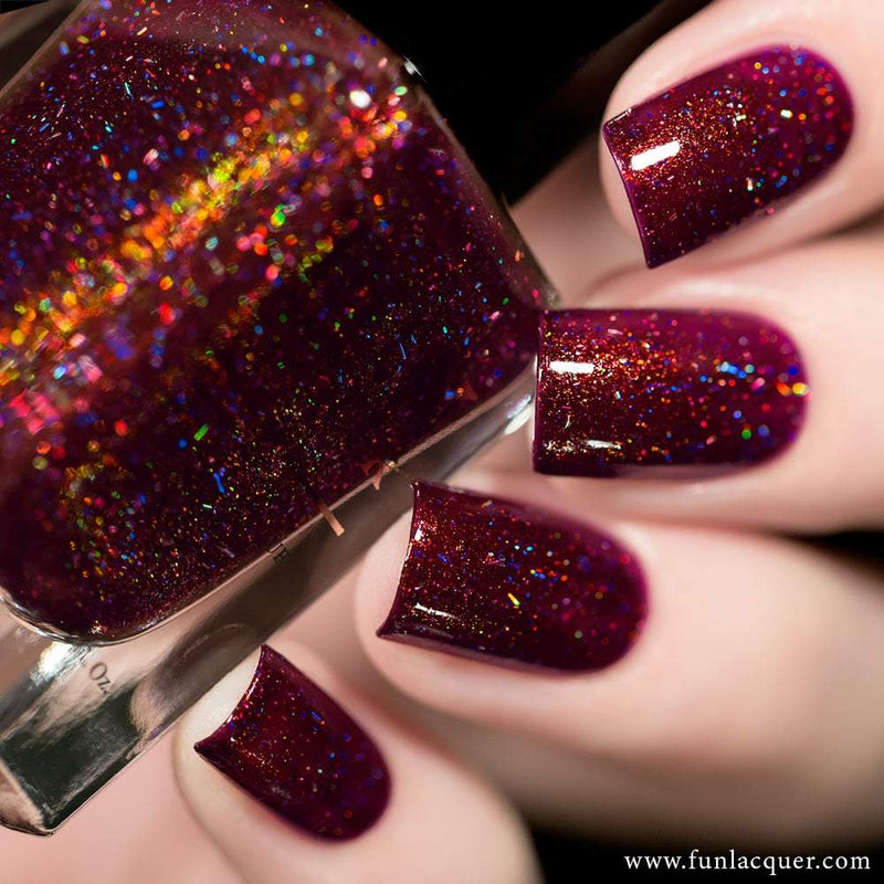High Society Wine Red Holographic Nail Polish