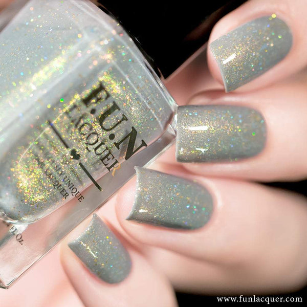 Personal Bodyguard Grey Pastel Holographic Nail Polish