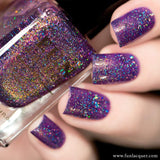 Unicorn Love Purple Holographic Nail Polish