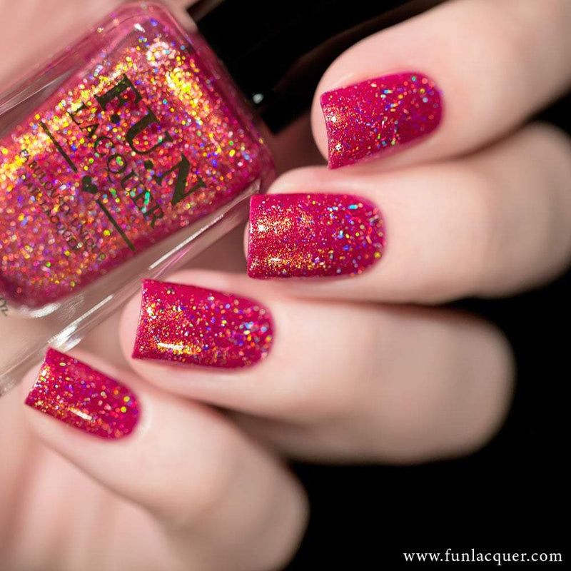 VVIP Best Hot Pink Holographic Nail Polish