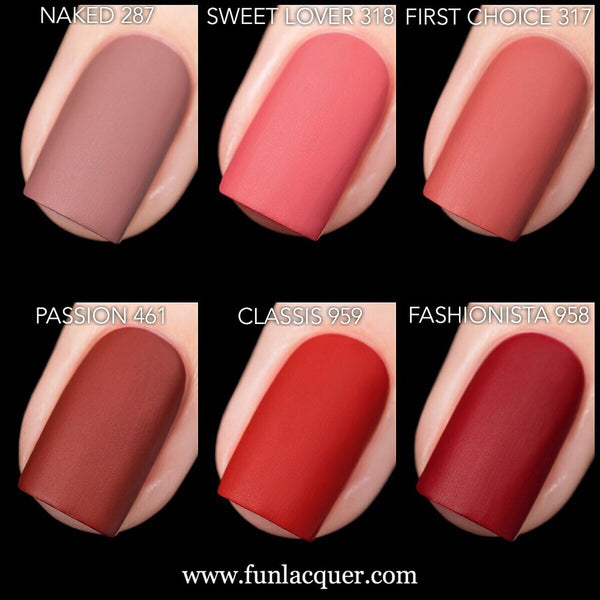 First Impressions Velvet Matte Nail Polish Collection