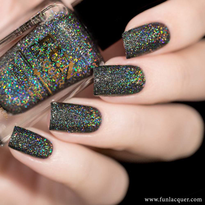Black Diamond Best Scattered Holographic Nail Polish
