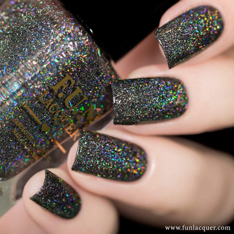 Black Diamond Scattered Holo Nail Polish