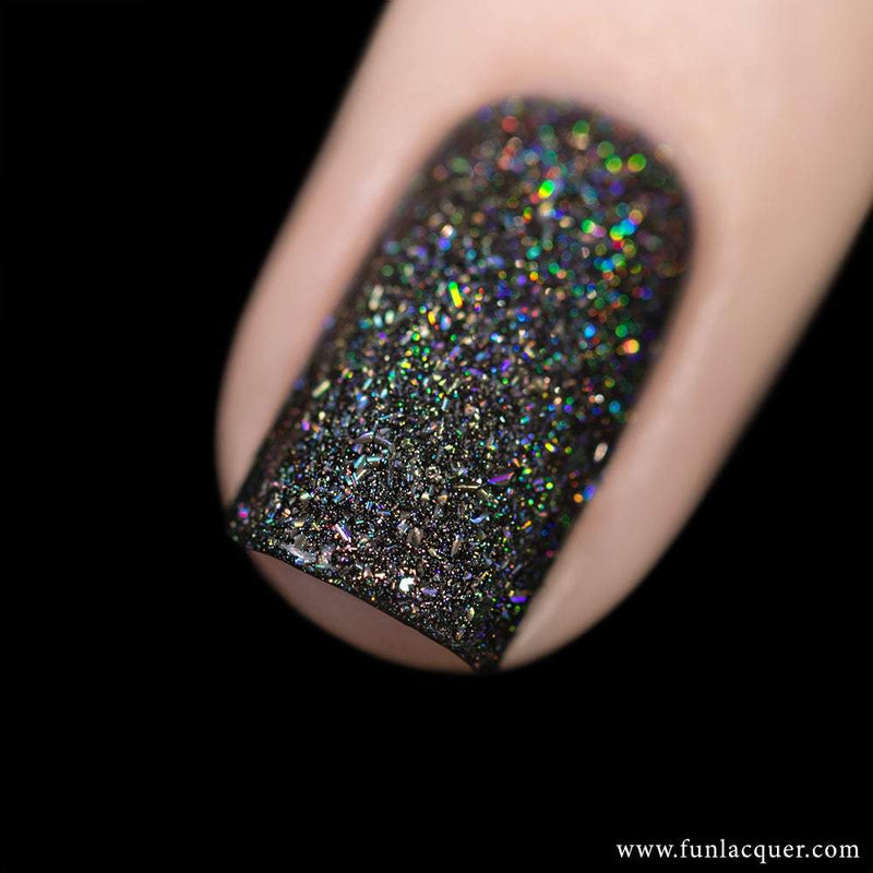 Black Diamond Scattered Holographic Nail Polish