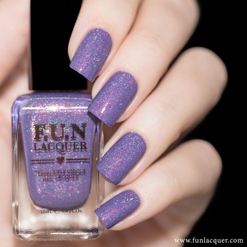 Grape Soda Pastel Holographic Nail Polish