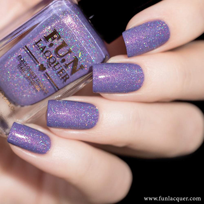 Grape Soda Pastel Purple Holographic Nail Polish