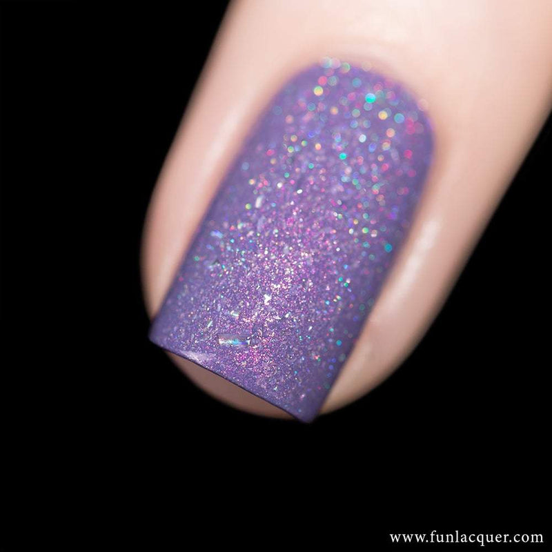 Grape Soda Purple Pastel Holographic Nail Polish