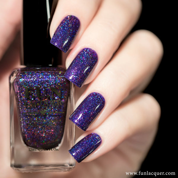 Andromeda Purple Jelly Holographic Nail Polish