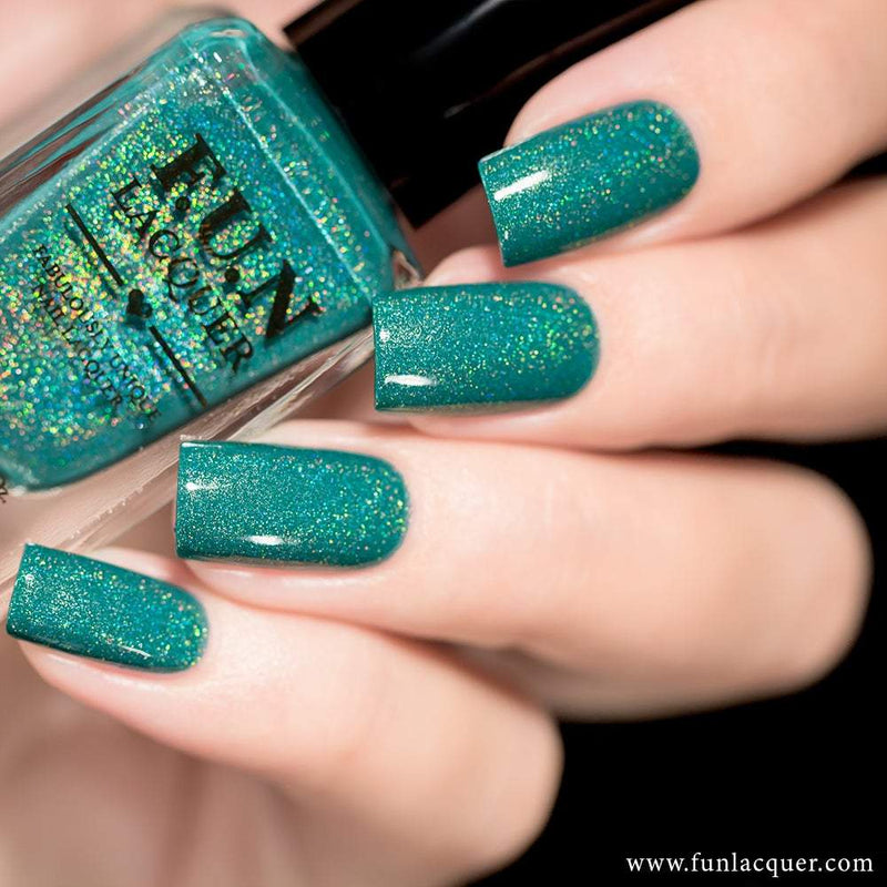 Be Yourself Green Linear Holo Nail Polish