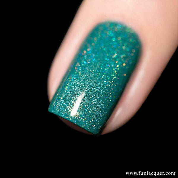 Be Yourself Green Linear Holographic Nail Polish