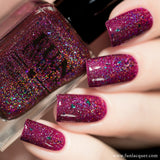 Cassiopeia Burgundy Jelly Holographic Nail Polish