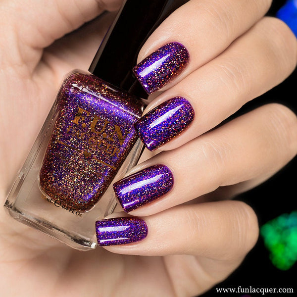 Fun Lacquer Holographic Multichrome  Cheers To The Holidays H 3