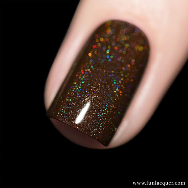 Cinnamon Brown Linear Holo Nail Polish