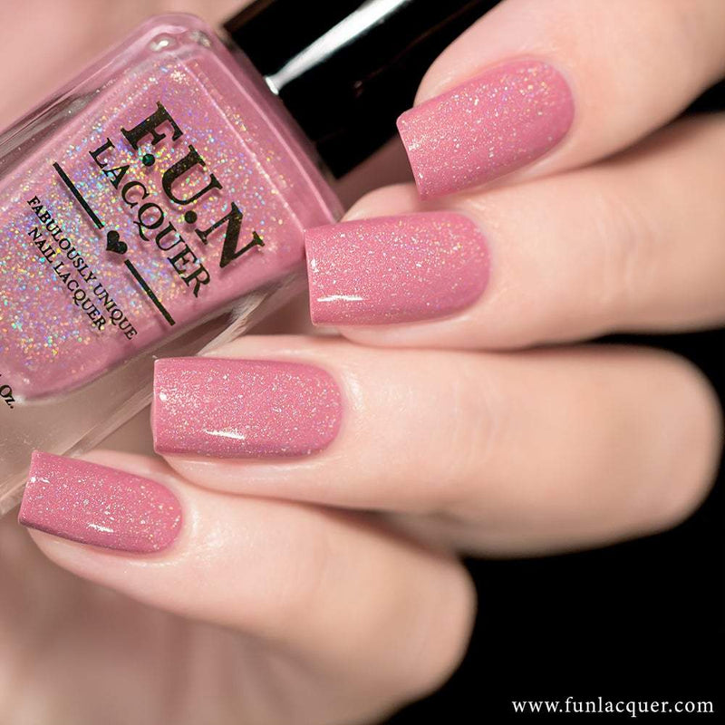 Daydream Pink Linear Holographic Nail Polish