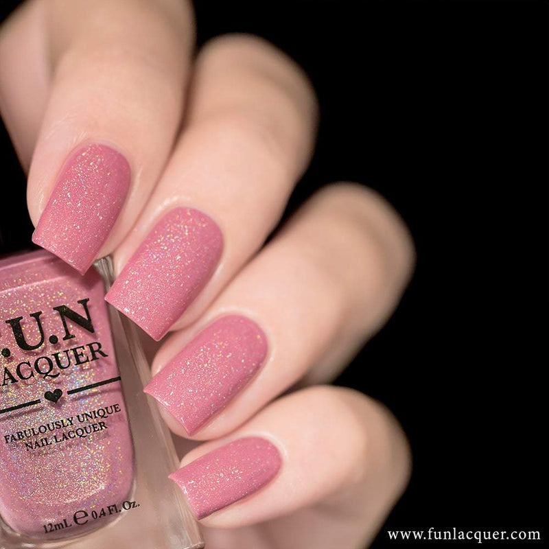 Daydream Pastel Pink Linear Holographic Nail Polish