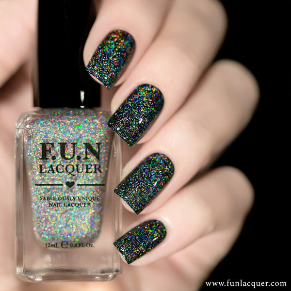 Crushed Diamond Scattered Linear Holographic Top Coat