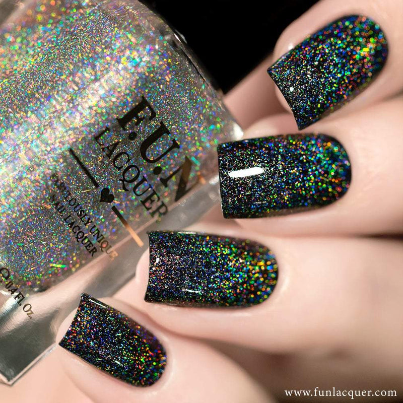 Crushed Diamond Scattered Linear Holo Top Coat