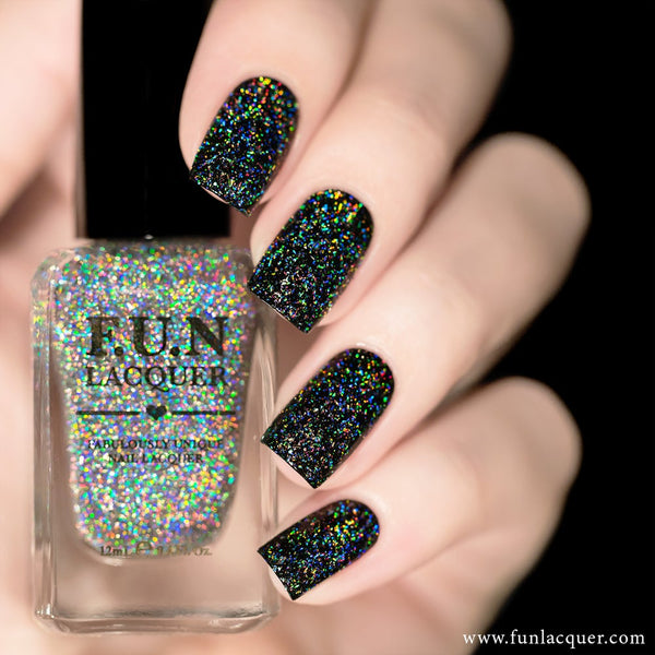 Diamond Flake Holographic Top Coat