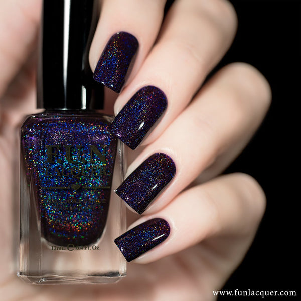 Evening Gown Purple Linear Holographic Nail Polish