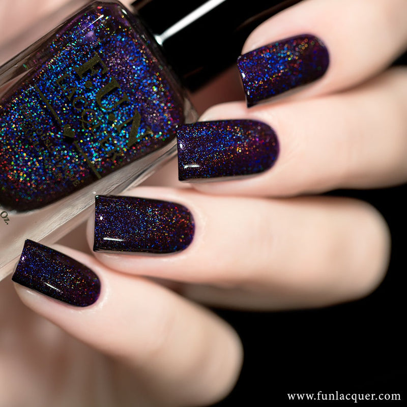 Evening Gown Purple Linear Holo Nail Polish