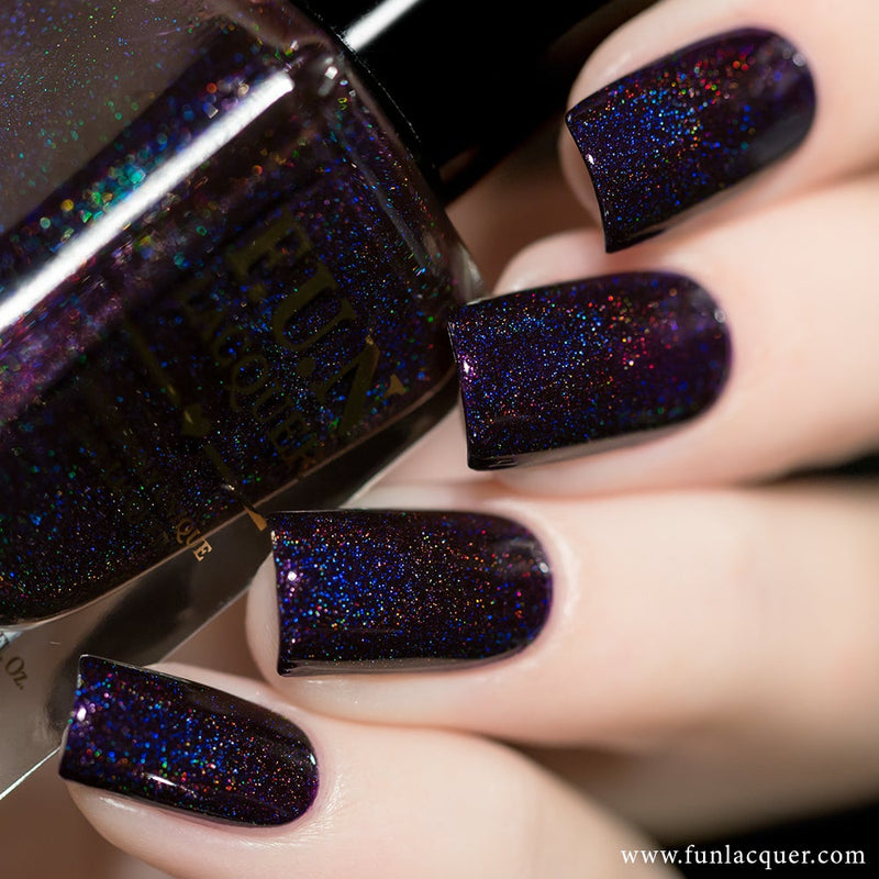 Evening Gown Purple Holographic Nail Polish