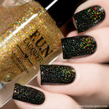 Gold Diamond Dust Gold Scattered Holo Topper
