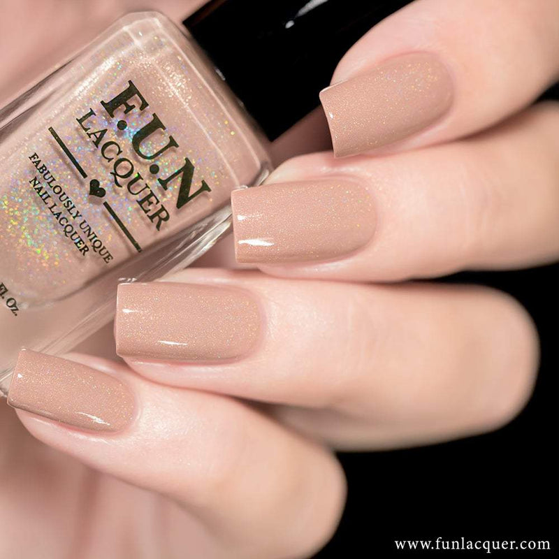 Happiness Beige Holo Nail Polish