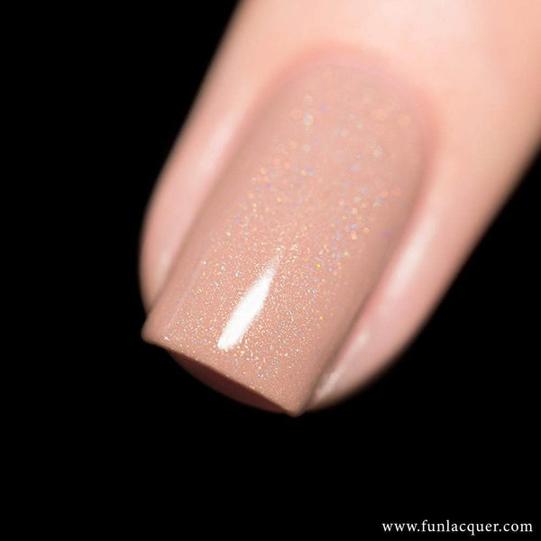 Happiness Beige Linear Holographic Nail Polish