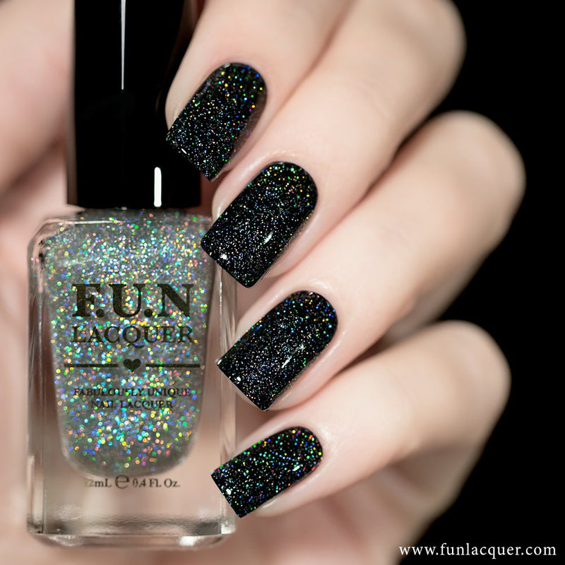 Diamond Dust Scattered Holographic Top Coat