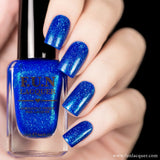 Inspiration Blue Holographic Nail Polish