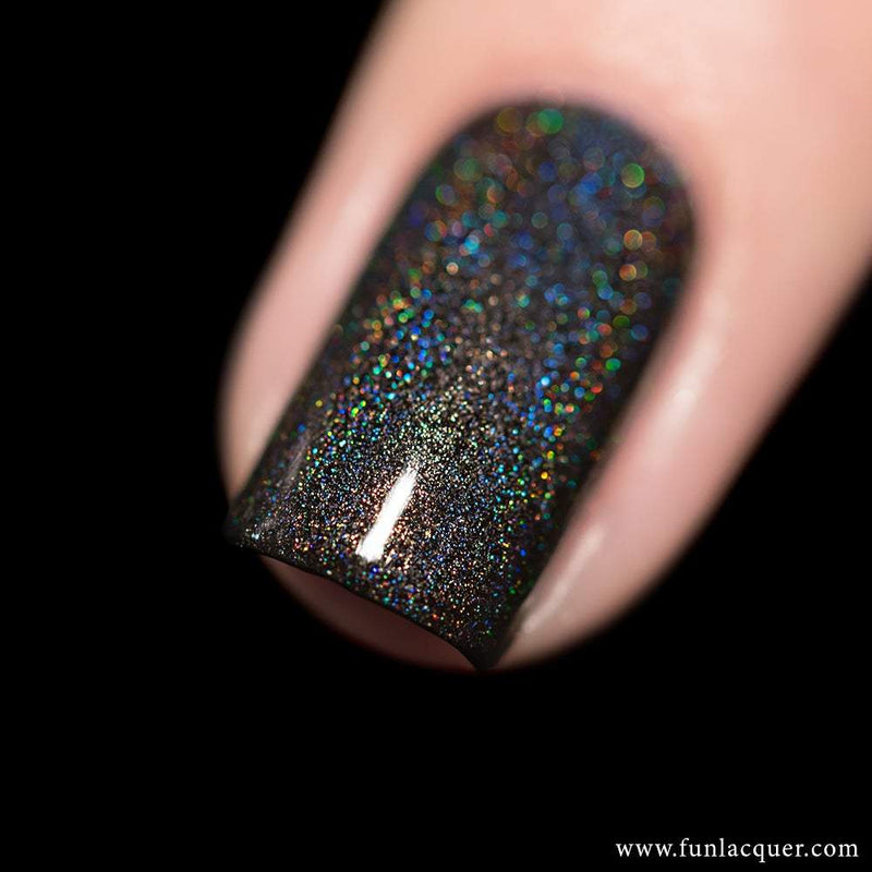 Last Doubt Black Linear Holographic Nail Polish