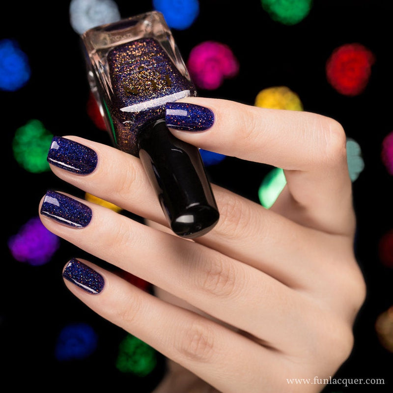 Moonlight Nocturne Purple Holographic Glitter Nail Polish